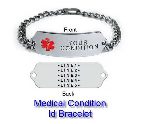 Medical Id Bracelets And Alert Jewelry Free Engraving Shipping