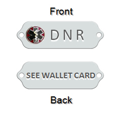 DNR medical alert Id Bracelet