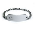 Medical Id Alert Bracelet with clear Emblem