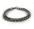 "Stainless Steel chain Bracelet (.4"" or 10 mm wide)."