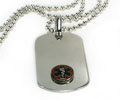 Premium Medical ID Dog Tag with Raised Emblem, 12 lines engraved