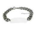 "Wide Stainless Steel Bracelet chain (.4"" or 10 mm wide)."