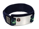 Double sided Stainless Steel Sport ID Bracelet, raised Emblem