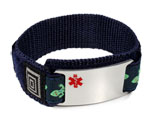 DNR Medical ID Bracelet with colored Medical Emblem