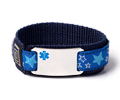 "Sport Medical ID Bracelet with Blue Emblem. Size 6.5"" Max."