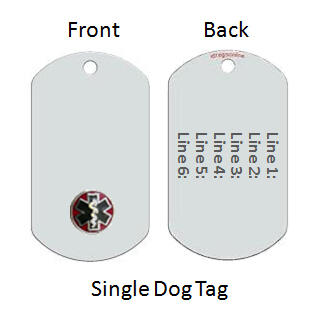 Medical Alert Id Dog Tag