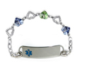 Rhinestone Medical Bracelets