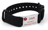 DNR and Do Not Resuscitate Medical ID Bracelet