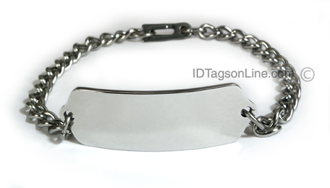 DNR Classic Stainless Steel ID Bracelet. - Click Image to Close