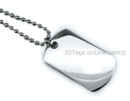 Premium Mini Dog Tag engraved on both sides. - Click Image to Close