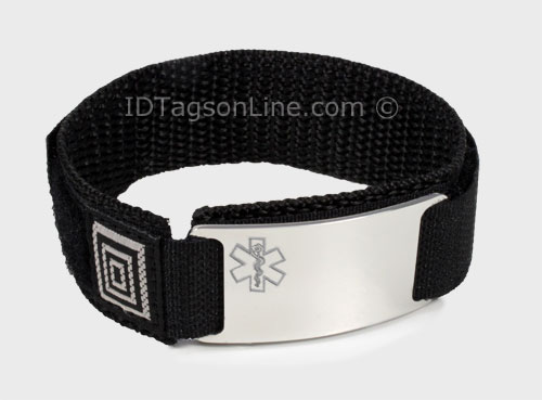 Stainless Steel Sport ID Bracelet with engraved Medical Emblem - Click Image to Close