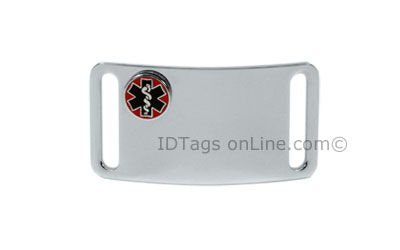 Sport ID Tag with raised Medical Emblem (6 lines of engraving) - Click Image to Close