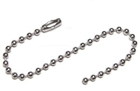 "Stainless Steel Key Chain 4"" long. - Click Image to Close"