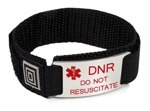 DNR and Do Not Resuscitate Medical ID Bracelet - Click Image to Close