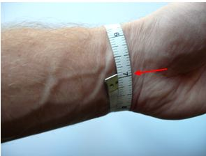 How to measure size of the wrist for Medical Id Bracelets.