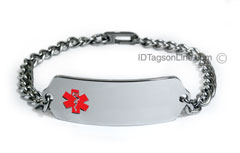 Medical ID Bracelet with red emblem.
