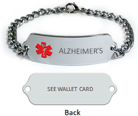 Alzheimer's Medical ID Bracelet.