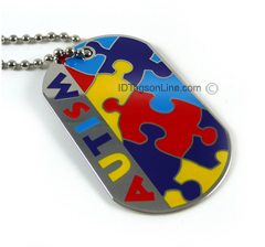 Autism Medical Id Dog Tag