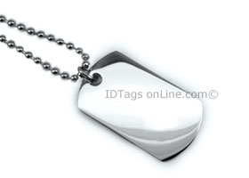 Premium Mini Dog Tag engraved on both sides.