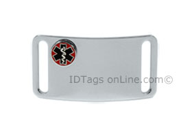 Sport ID Tag with raised Medical Emblem (12 lines of engraving)